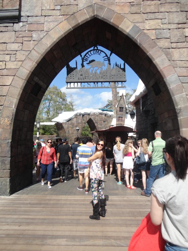 Entering Hogsmeade