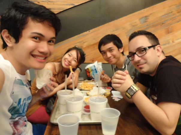 At Shake Shack (JJ, Jea, Me, and Fabian)