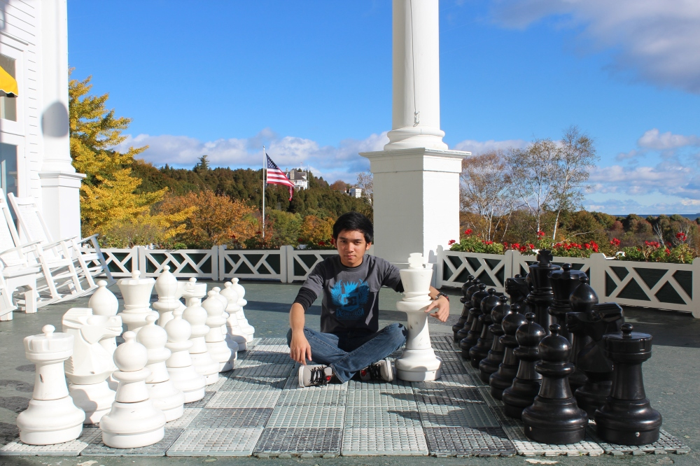 The hue chess set on the East End
